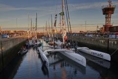 Saint-Malo, ville départ de la Route Du Rhum Destination Guadeloupe 2018. Passages des écluses.